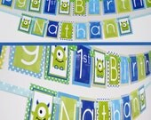 Monster Birthday Party Decorations Banner
