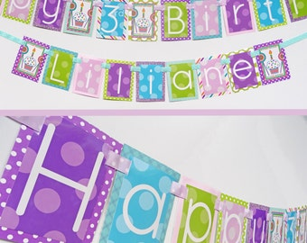 Sweet Shop Sweets and Treats Birthday Party Banner Fully Assembled Decorations