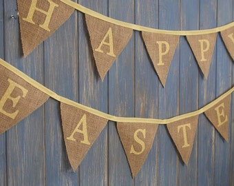 Happy Easter Bunting. Easter Garland // Personalised Bunting // Easter Decor // Easter Banner // Egg Hunt Decor // Easter Bunting.