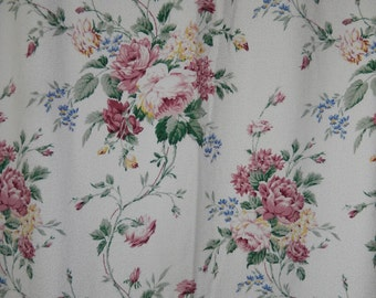 Floral Bouquet Lined Curtains 2 Long Panels Custom Made