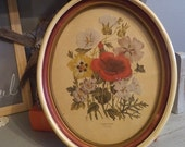 Vintage Oval Framed Floral Picture ~ London Florals 1783-1843 ~ Botanical Shabby Chic Romantic Cottage Print Gallery wall