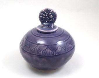 COIL POTTERY Handmade Pottery Purple Beauty