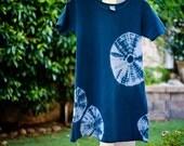 Shibori GIRLS A-Line Summer Dress, Side Sand dollar inspired -