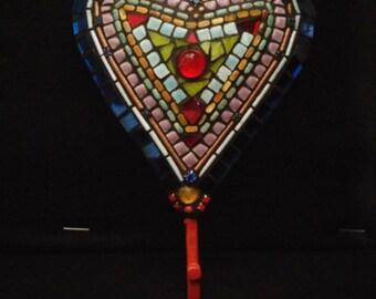 Metal Mosaic Heart Hook