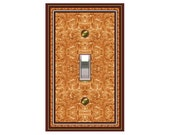0776b  Orange Bkgd Design mrs butler switchplate  (Choose size/price from dropdown)