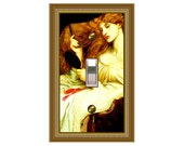0777x  Medieval Lady Lilith   mrs butler switchplate  (Choose size/price from dropdown)