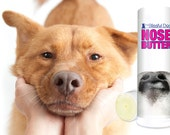 The ORIGINAL Dog NOSE BUTTER® Handcrafted, All Natural Balm for Dry, Crusty Dog Noses Choice .50 oz or .75 oz Tube with Just A Nose Label