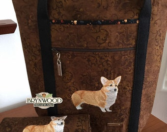 Pembroke Welsh Corgi WALLET, Custom Embroidered Wallet, Corgi WALLET, Dog/Cat/Animal Embroidery Wallet