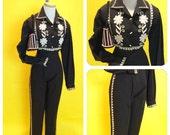 Vintage 1950s Toreador Pant Set size 16 M/L