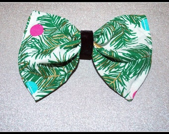 Pine Green Holiday Hair Bow