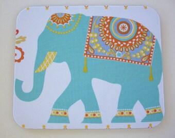 Mouse Pad mousepad / Mat - Rectangle - Boho Elephant - desk office cubical decor accessories coworker teacher gift