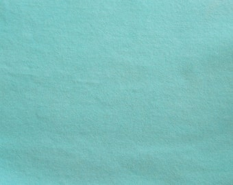 Light Turquoise Hand Dyed Felted Wool fabric bundle for Wool Applique, Penny Rugs, Quilting, Needle Felting by Quilting Acres
