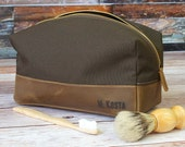 Mens Toiletry Bag & Personalized Dopp Kit - Groomsmen Gift