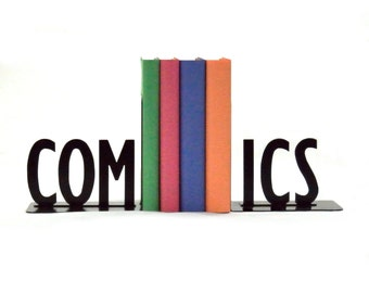 Comics Metal Art Bookends - Free USA Shipping