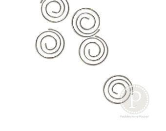 Spiral Clips: Silver (25 qty)