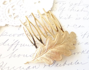 Golden Leaf Hair Comb - Woodland Collection - Whimsical - Nature - Bridal
