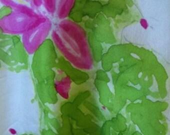 Silk Pink Christmas Cactus