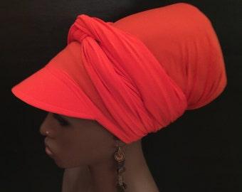Solid Color  Sun Visor Headwrap- Women Hats-  Wrap Hat-Dread Locs Hat-Choose a Length