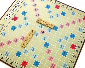 Vintage 1970s Game / Scrabble Board Game 1976 Like-New Complete
