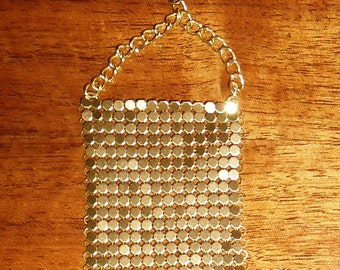 Steampunk/Victorian/Renfair chainmail gold colored earrings
