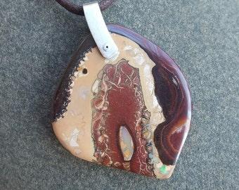 Boulder opal jewelry - handmade in Australia - magic in sacred earth