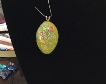 Lime Green Glass Pendant