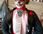 RESERVED Day of the Dead Gent CUSTOM ORDER