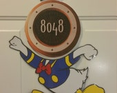 Angry Donald Duck Body Part Stateroom Door Magnets for Disney Cruise