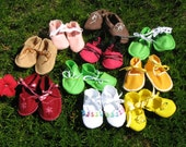 CLEARANCE Vintage Style Baby Boy Shoes and Baby Girl Booties & Mary Janes are handmade from heart of Ohio