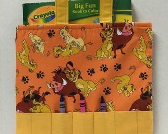 Lion King Crayon Tote