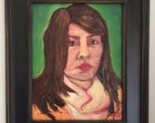 Oil Painting Portrait // self portrait // portrait painting // 14x11