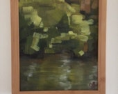 Framed oil painting - 9x12 - Afternoon at dry creek