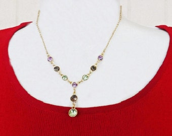 Vintage Necklace and Earring Set, Designer Signed, Liz Claiborne Jewelry, Upscale Costume Jewelry, Jewelry Accessories