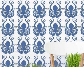 Octopus Allover Stencil - Trendy Wall Stencils for Wall Décor - Aquatic Stencil Design for Home Décor