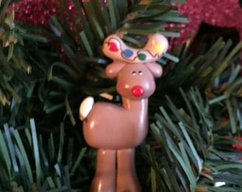Personalized Bitty  Reindeer Christmas Ornament