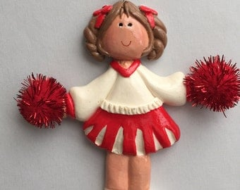 Custom Personalized Cheerleader Christmas Ornament
