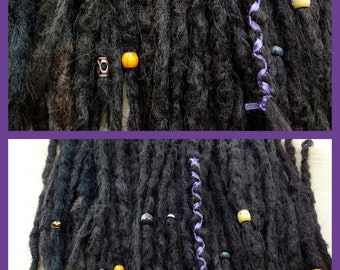 10 Medium Brown Knotty Dreadlock Extensions. Synthetic dreadlock extensions. Synthetic dreads. Natural looking dreads. Made to Order.