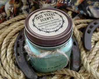 Christmas In The Pines - 8 oz Western Texas Cowboy Mason Jar Candle