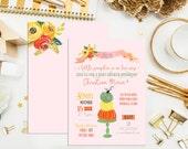 SALE. Digital Printable Watercolor Pumpkin Baby Shower Invitations. Custom Baby Shower Invites. Rustic Pumpkin Invitations. Baby Shower.