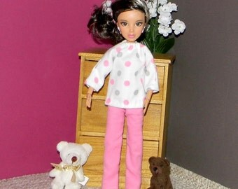 BSPJ-20) Barbie flannel pajamas