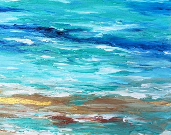 Seascape Beach Painting Modern Ocean Painting Contemporary Beach Art Abstract Blue Cape Cod Modern Original Seascape
