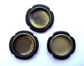 Japanese Door Pulls - Sliding Door Pulls - Pocket Door Pulls - Vintage Door Pulls -  Black Gold  F228 Set of 3