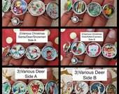 Christmas Bracelet,Stretch Photo Bracelet, Retro Christmas Bracelet, Wearable Art, Kitschy Christmas Bracelet, Christmas Jewelry