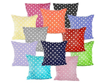 Polka Dot Print Throw Pillow Cover in choice of polka dot fabric by Premier Prints - Different sizes to choose from - FREE Domestic Shipping