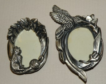 2 Miniature Pewter Frame/magnets