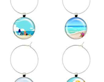 Two Templates, 4 Round Wine Glass Charms