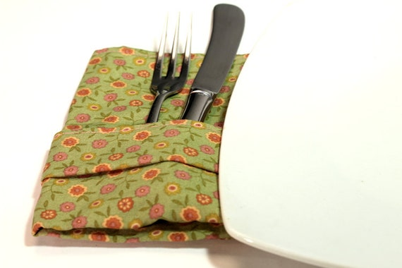 Cloth Napkins - Spring Blossoms - set of 6
