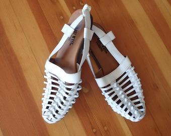 Woven Sandals Vintage Womens Size 7