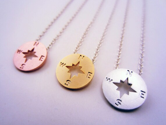 3 best friend necklace compass necklace set of 3 or 2