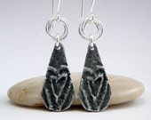 Heart Earrings, Primitive Hearts, Tribal Earrings, Tribal Jewelry, Rustic Earrings, Inviciti Earrings, Primitive Valentine, Jewelry Gift